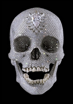 diamond, platinum skull