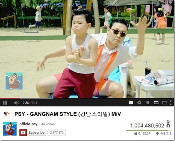 gangnam style -- record