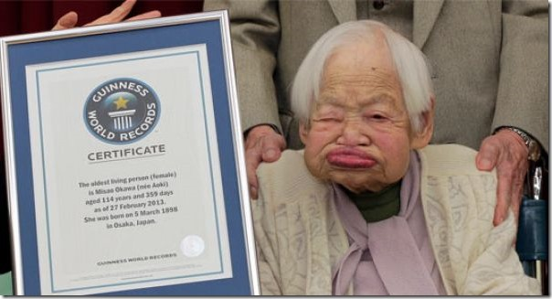 Misao Okawa 114 years old woman