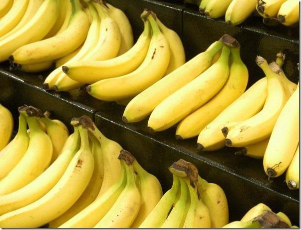 banana on store shelve