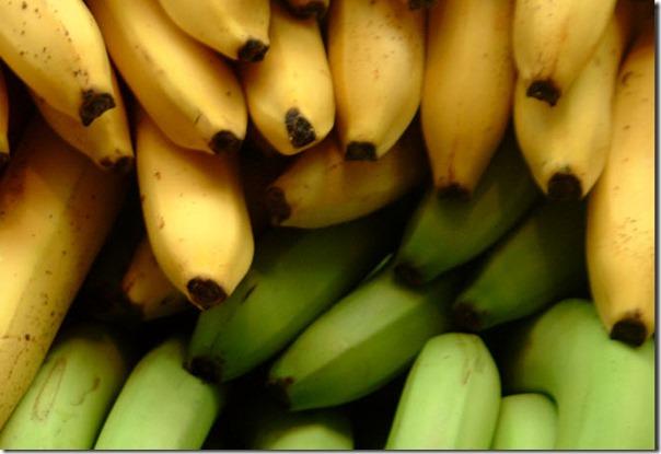 banana yellow and green