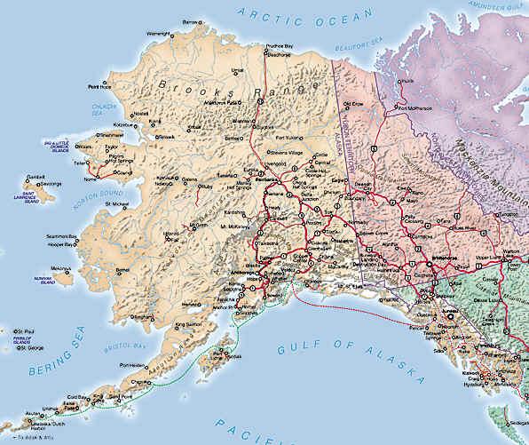 alaska - map