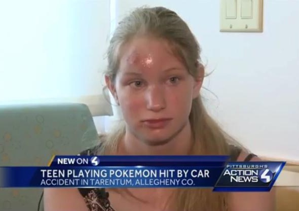 pokemon go accidents teen accident