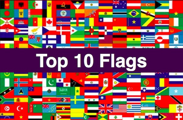 top 10 country flags in the world