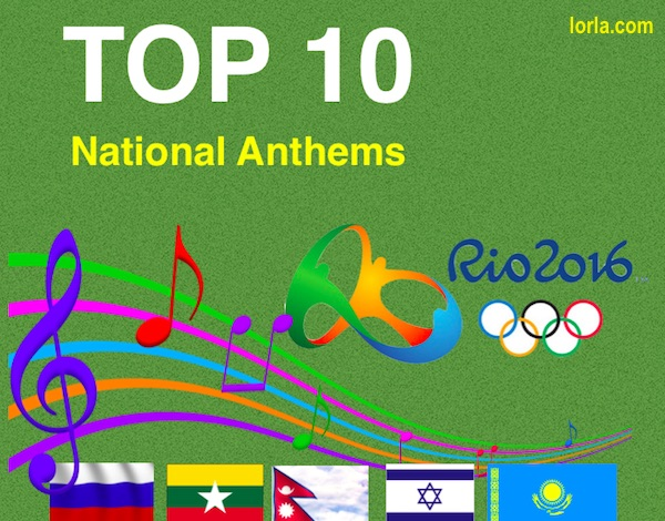 top 10 national anthems in the world