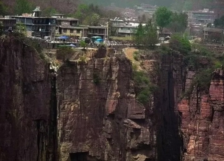 village on top of cliff china