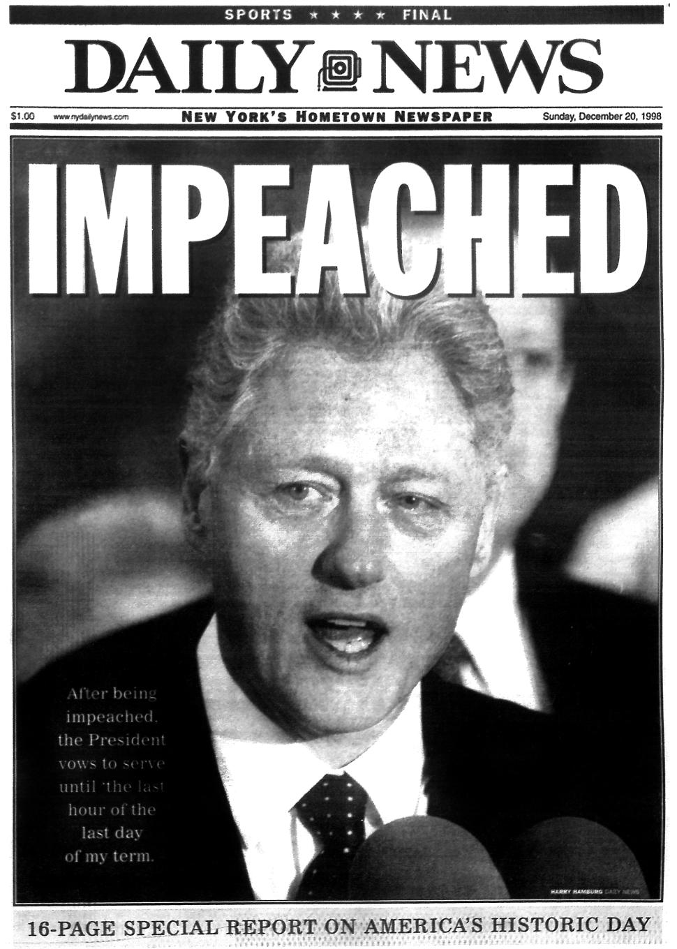 Today in History: Bill Clinton impeached, Titanic released ...